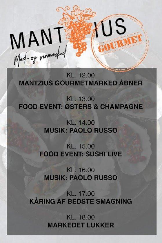 Program for Mantzius Gourmetmarked
